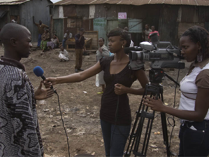 On location reporters from Nairobi Community Media House